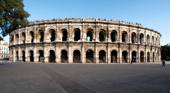 Amphitheatre Nimes in France