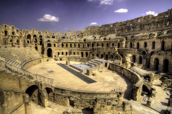 Amphitheatre El Djem in Tunisia