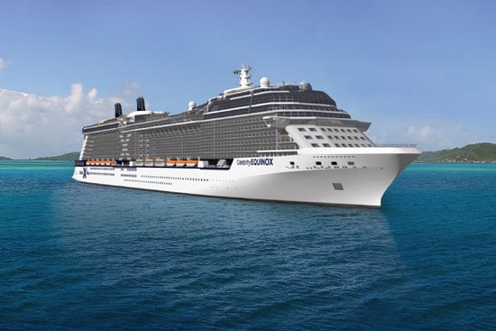 The Celebrity Equinox cruise ship