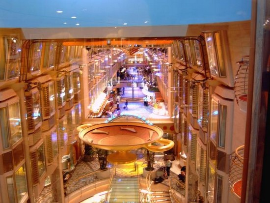 The Independence of the Seas ship inside