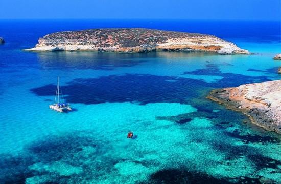 Lampedusa island italy
