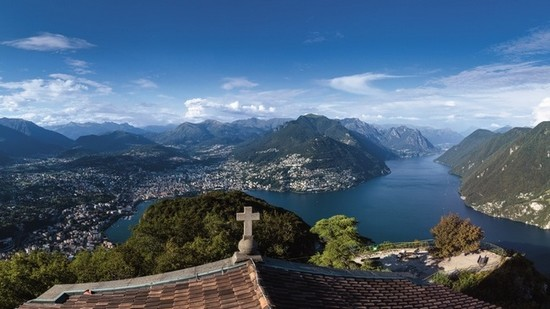 Monte San Salvatore swiss alps
