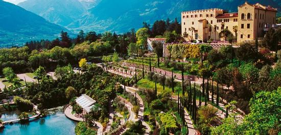 Trauttmansdorff Castle Gardens italian alps